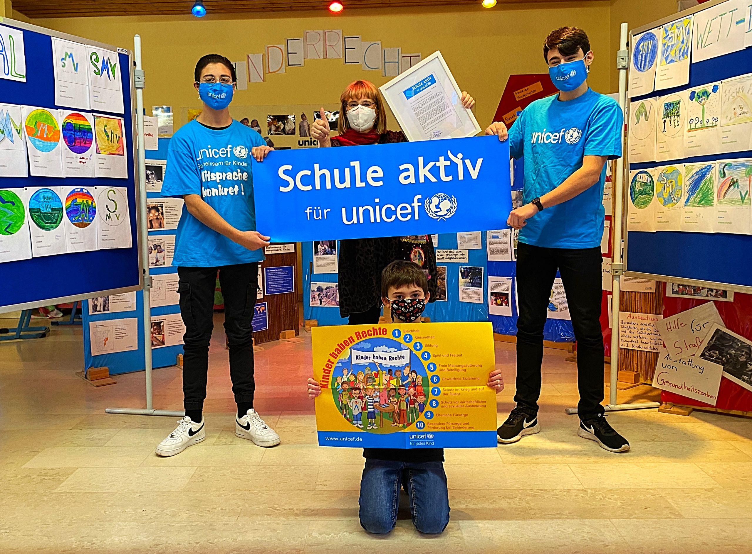 Verlängerung der Auszeichnung: Schule aktiv für UNICEF