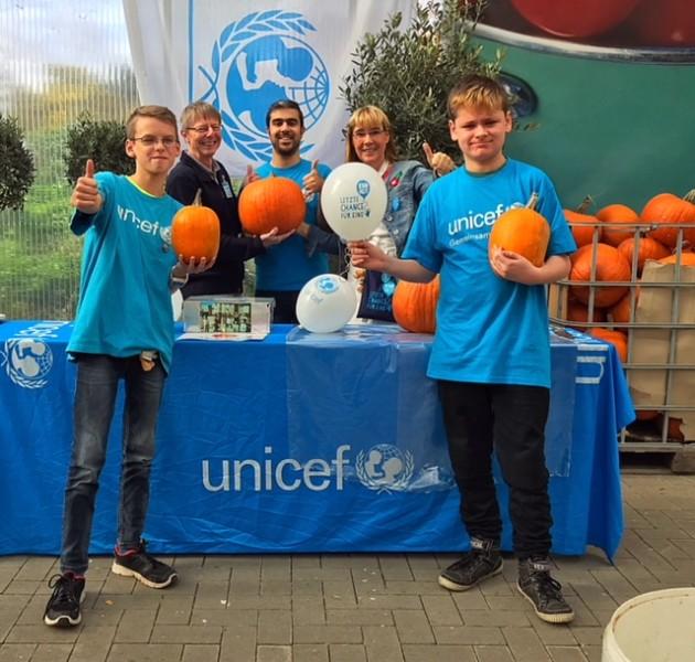 Kürbisse und Waffeln für UNICEF